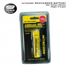 Nitecore 18650 Li-ion Rechargeable Battery, 3400 mAh power.