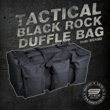 Tactical Black Rock Duffle Bag, Multiple bag, duty bag, backpack, 70 Litre large capacity, cordura 600D, tough and durable