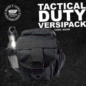 TACTICAL DUTY VERSIPACK + STAINLESS STEEL BOTTLE, COMBO SET - BG299