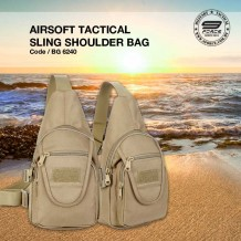 AIRSOFT TACTICAL SLING SHOULDER BAG - BG6240
