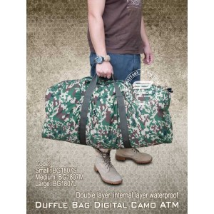 Duffle Bag Digital Camo ATM, Bag Balik Kampung (Small, Medium, Large) - BG1807