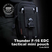 Thunder F-16 EDC TACTICAL MINI POUCH (OPS Black)