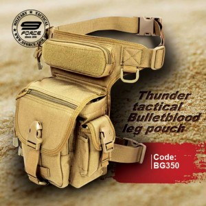 THUNDER TACTICAL BULLETBLOOD LEG POUCH (OPS BLACK)