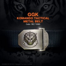 GGK KOMANDO TACTICAL METAL BELT, GERAKHAS, BLACK (BELT6968) FREE POSTAGE NOW