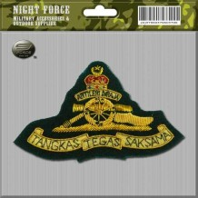 CAPBADGE Officer Peak Cap Artileri