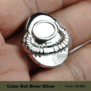 BADGE: SCUBA DIVER - REGULATION, MIRROR FINISH (CD904)