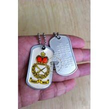 HIGH QUALITY STAINLESS STELL MILITARY DOG TAG COLOR - TD, EPOXY COVER - TAG110CD