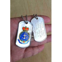 HIGH QUALITY STAINLESS STELL MILITARY DOG TAG - TENTERA LAUT DIRAJA , EPOXY COVER - TAG120CD