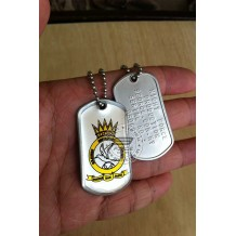 HIGH QUALITY STAINLESS STELL MILITARY DOG TAG COLOR - SEMBOYAN , EPOXY COVER - TAG160CD