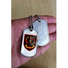 HIGH QUALITY STAINLESS STELL MILITARY DOG TAG COLOR - VAT69 , EPOXY COVER - TAG169CD