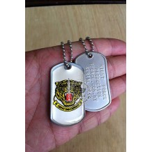 HIGH QUALITY STAINLESS STELL MILITARY DOG TAG COLOR - GGK , EPOXY COVER - TAG177CD
