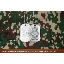 High Quality Stainless Stell Military Dog tag - TD, EPOXY COVER - TAG110D