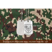 HIGH QUALITY STAINLESS STELL MILITARY DOG TAG - UTK , EPOXY COVER - TAG155D