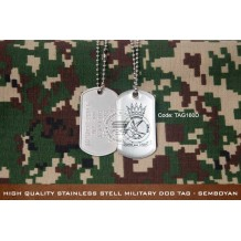 HIGH QUALITY STAINLESS STELL MILITARY DOG TAG - SEMBOYAN , EPOXY COVER - TAG160D