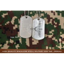 High Quality Stainless Stell Military Dog tag - PASKAU, EPOXY COVER - TAG175D