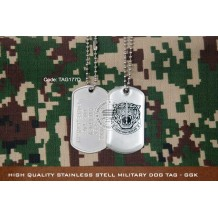 High Quality Stainless Stell Military Dog tag - GGK, EPOXY COVER - TAG177D