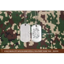 High Quality Stainless Stell Military Dog tag - RAMD, EPOXY COVER - TAG185D