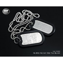 Military dog tag USA Mil-Spec (Full Spec standard silver double tags) - TAG800D
