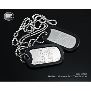 Military Dog Tag Mil-Spec silver (Double)