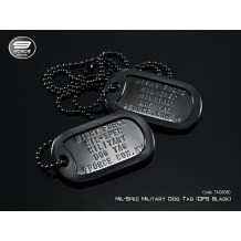 Military Dog Tag USA Mil-Spec OPS Black (Double)