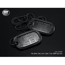 Military Dog Tag Mil-Spec silver, stainless steel (Double)
