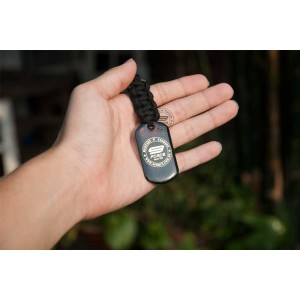 MILITARY DOG TAG KEYCHAIN (BLACK) - TAG1000