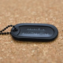 Military Dog Tag USA Mil-Spec OPS Black (Single)