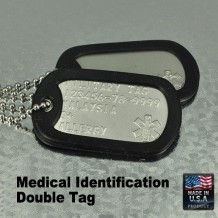 Medical identification double tag (Military Dog Tag)