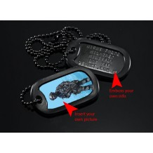 Military Dog Tag Mil-Spec customize your own tags, stainless steel (Double)