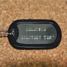 Silver Shiny single military tag (Military Dog tag)