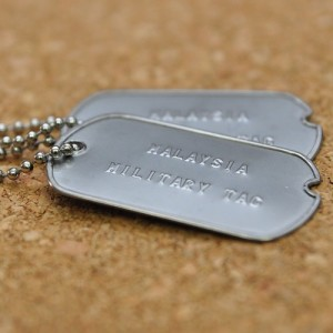 World war II double military tag (Military Dog tag)