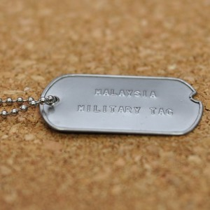 World war II single military tag (Military Dog tag)