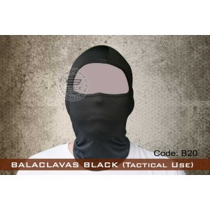 BALACLAVAS BLACK (Tactical Use) - B20