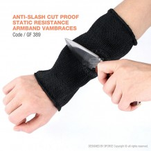 ANTI-SLASH CUT PROOF STATIC RESISTANCE ARMBAND VAMBRACES - GF389
