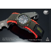 Hand Watch Combat Survival Paracord (Casio Tough Solar Power) (Code: HW920 (Army Green/Orange)