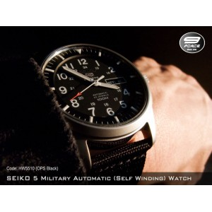 SEIKO 5 Military Style Automatic (Self Winding) OPS Black (100% Original)