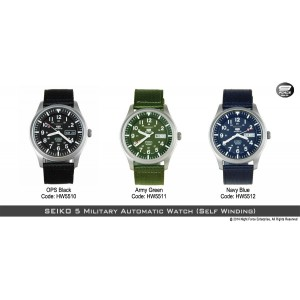 SEIKO 5 Military Style Automatic (Self Winding) Navy Blue