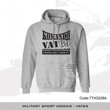 Military Sport HOODIE - VAT 69(GREY), FREE POSTAGE - TTH3228A