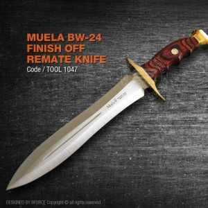 "Muela BW-24 Finish Off ""Remate"" Knife, Made in Spain, high quality steel"