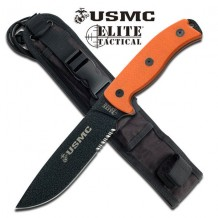 USMC Semper Fi Fixed Blade - Orange (TOOLM1021OR)