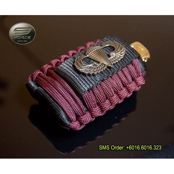Airborne paracord lighter pouch for Paracord case