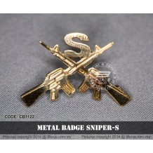 METAL BADGE SNIPER-S - CB1122