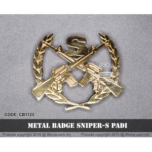 METAL BADGE SNIPER-S PADI - CB1123