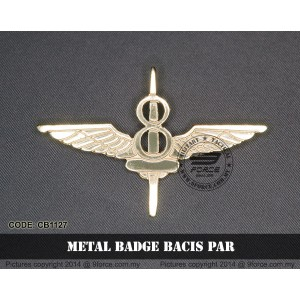 METAL BADGE BACIS PAR - CB1127