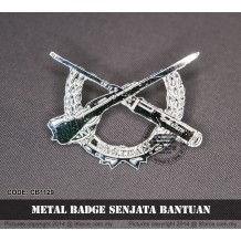 METAL BADGE SENJATA BANTUAN - CB1129