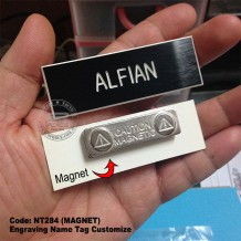 NAME TAG ENGRAVING, MILITARY, POLIS, SCHOOL USE, PIN/MAGNET