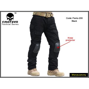 Emerson V2.0 Tactical Pants with Knee Protection Pad (Black) - pants200