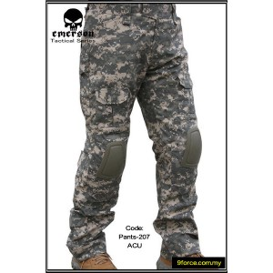 Emerson V2.0 Tactical Pants with Knee Protection Pad (ACU Camo) - pants207