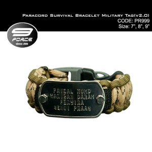 Paracord Survival Bracelet Military Tag(v2.0)