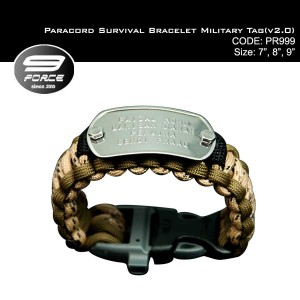 Paracord Survival Bracelet Military Tag(v2.0)